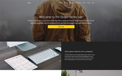 STOKER - Responsive Landing Page