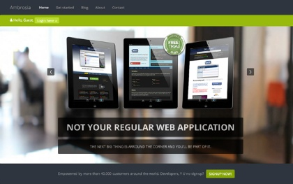 Ambrosia - Web Application Theme