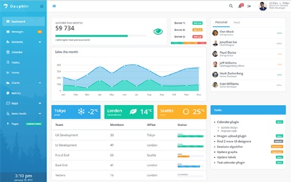Dauphin - Premium Admin Template