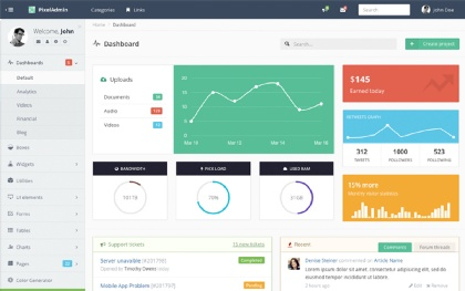 PixelAdmin - Responsive Template Screenshot