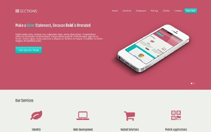 SECTIONS - One Page Business Theme