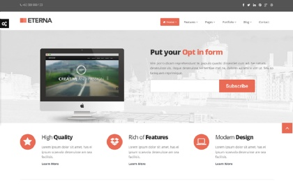 Eterna - Complete Bootstrap Theme