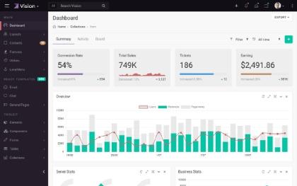 Vision -  Admin & Dashboard Template