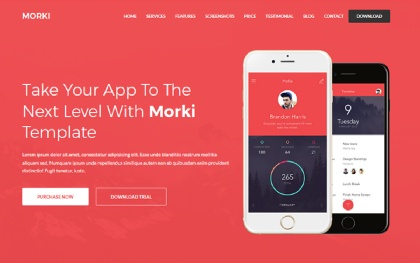 Morki - Responsive App Landing Template