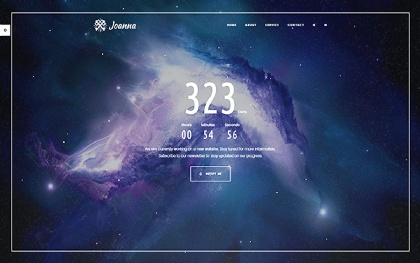 Joanna - Creative Coming Soon Template