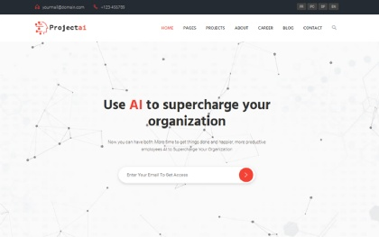 ProjectAi - AI Agencies & Startups Template