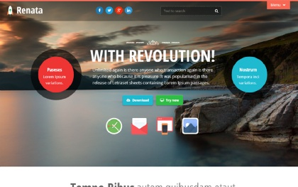 Renata - Colorful Bootstrap Theme