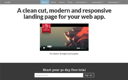 Lando - Responsive Landing Page