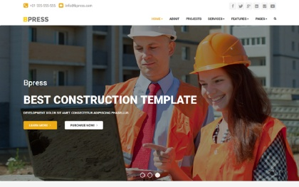 Bpress - Construction WordPress Theme