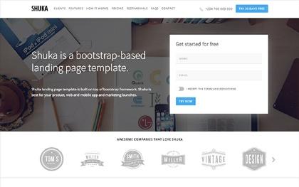 Shuka - Multipurpose Landing Page
