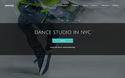 IDance - Dance or Yoga Studio Template