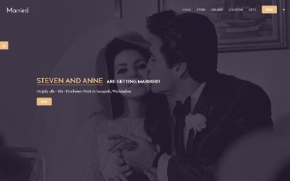 Married | 3 in 1 Wedding Template
