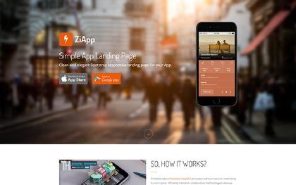 Zi - Simple App Landing Page