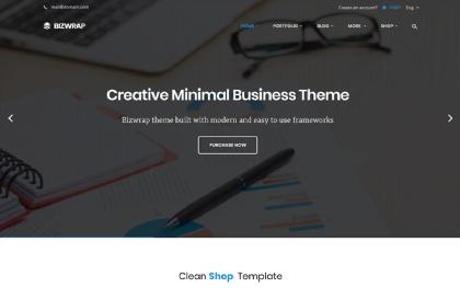 Bizwrap - Clean Minimal Business Theme