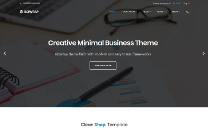 Bizwrap - Elegant Bootstrap 4 Template