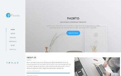Phorto - Portfolio Bootstrap 4 Template