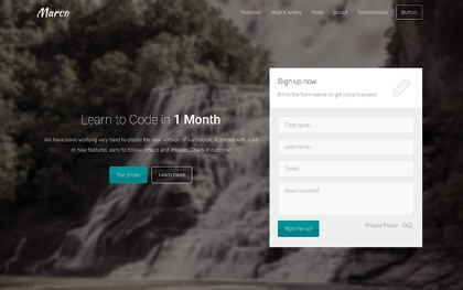 Marco - Multi-purpose Landing Page