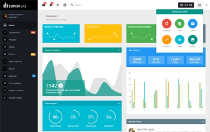 SuperFlat Simple Responsive Admin Theme