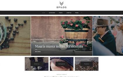 Epilog - Clean Blogging Theme