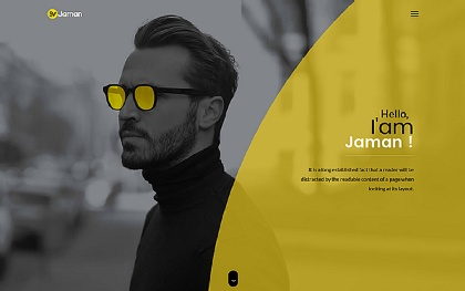 Personal Website HTML Site Templates | WrapBootstrap