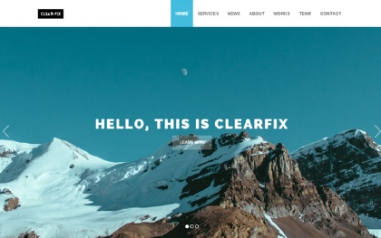 Clearfix - One Page Theme