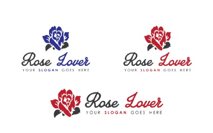 Rose Lover Logo Template