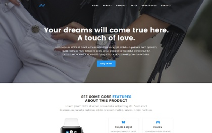 Blue - Product Landing Page
