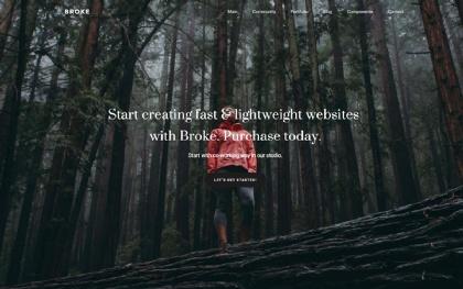 Broke - Responsive Portfolio Template