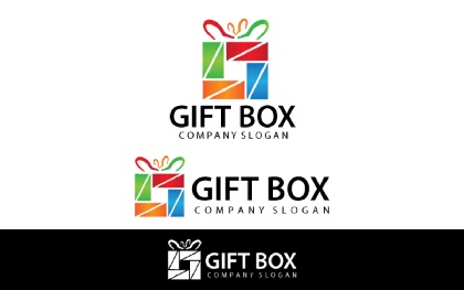 Gift Box Logo Template
