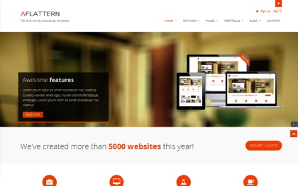 Flattern - Flat Clean Business Template