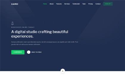Zairo - Responsive Landing Page Template