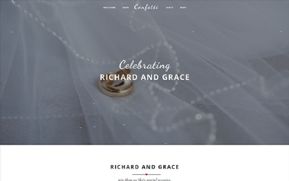 Confetti - Stylish Wedding Template