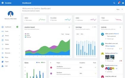 Angle - Bootstrap Admin Template by themicon | WrapBootstrap