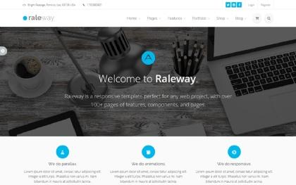 Raleway - Mega Bootstrap Template