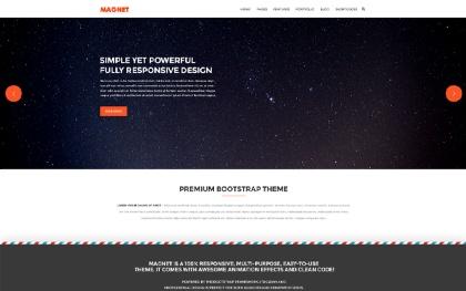 Magnet - Responsive Website Template