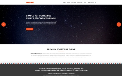 Magnet - Responsive Website Template