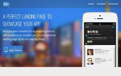 BIG Thing - App & General Landing Page