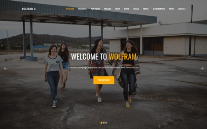 Wolfram - Multipurpose One Page Template