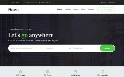 Places - Bootstrap 4 Directory