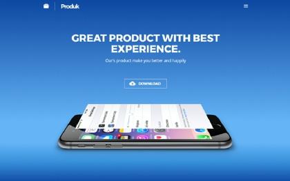 Produk - Responsive Showcase Landing Page
