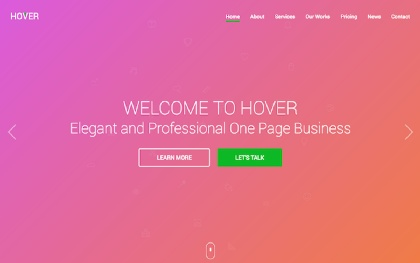 Hover - One Page Business Template