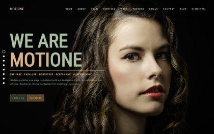 MotiOne - Creative One Page Parallax