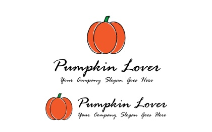 Pumpkin Lover Logo Template
