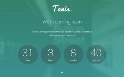 Tanis - Coming Soon WordPress Theme