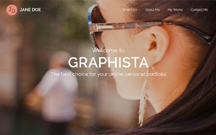 Graphista | One-Page Creative Portfolio