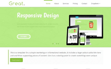 Great Responsive HTML5 Business Template