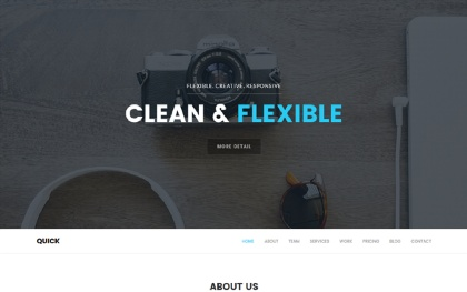 Quick - Multipurpose One Page Theme