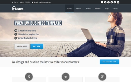 PIXMA - Responsive Multipurpose Template Screenshot