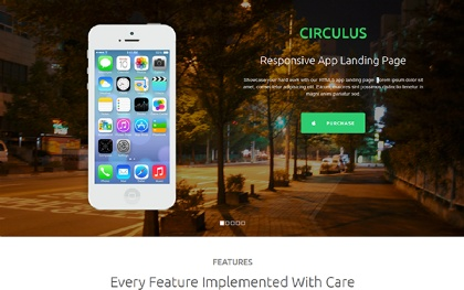 Circulus - Flat Responsive Landing Page
