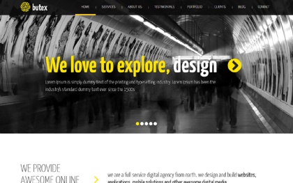 Butex Onepage Responsive HTML Template